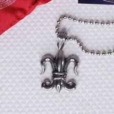 Rocker Jewelry Fleur De Lis Necklace Diabolik Pewter Jewelry Large