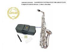 Grassi AS210 AG ARGENTATO Sassofono Sax Alto Mib con custodia bocchino collare