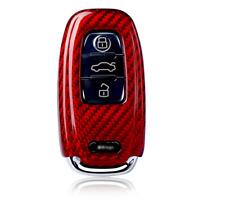 Luxury Carbon Fiber Remote Fob Key Shell Case for Audi A4 A5 A6 A8 S4 S5 Q5 Q7