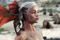 GOT Game Of Thrones Emilia Clarke Dragon Finale SD Kunstdruck laminiert abwaschb