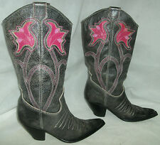 Dolce Multi leather cowboy cowgirl boots UK 3 to 4 EU 36 Festival