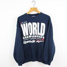 VINTAGE Reebok World dembula Sweatshirt Jumper | Retro Classic | Small S