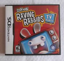 Rayman Raving Rabbids: TV Party NO GAME w/insert & Manual Nintendo DS