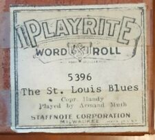 JAZZY VERSION OF THE ST. LOUIS BLUES RECUT PLAYER PIANO ROLL