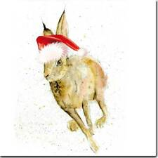 Hare Christmas Card *Premium Christmas Card* Watercolour Hare Art | UK Made