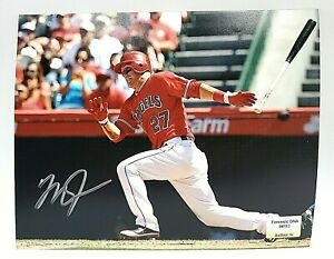 Mike Trout Anaheim Angels Hand Signed Autographed 8x10 Photo With COA