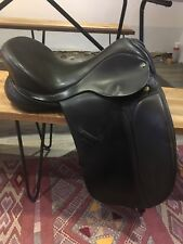 Ideal Jessica black leather dressage saddle 17 M