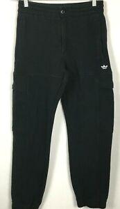 Adidas Ghost Logo Heavyweight Shmoofoil Cargo Sweatpants Black Zip Fly Unisex XS