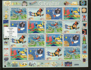 Gibraltar 2 Different Sheets Issued in 2000 Stamping the Future & History UM