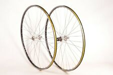 Mavic MA3 Clincher Wheelset With Shimano 600 HB-6400 Front & Rear Hub Solid Axle