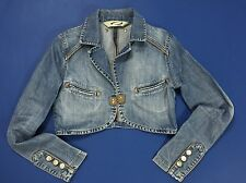 Otostop jacket jeans size S denim giacca giacchetta corta donna hot sexy T1774