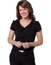 Polyester Blouses for Women with Ruffle