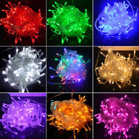 100-500 LED Fairy Lights 10M-50M String Lamp Wedding Party Tree New Year Decor
