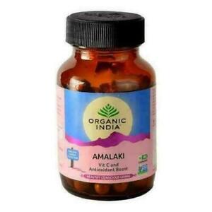 Organic India AMALAKI Capsules Amla Gooseberry Emblica 60 veg Capsules Pack of 2