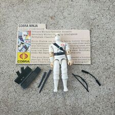 Vintage GI Joe Figure 1984 Storm Shadow (WHITE) complete with file card