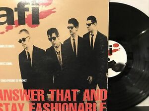 AFI – Answer That And Stay Fashionable LP 1997 Nitro Records – NITRO 15811-1 VG+