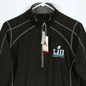 Super Bowl LII Minnesota 1/4 Zip Pullover Jacket Women L-XL Philadelphia Eagles