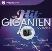 "DIE HIT GIGANTEN ""ROCKPARTY"" 2 CD QUEEN YES UVM NEUWARE"