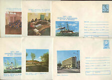 Romania 1977, 6 Unused Stationery Pre-Paid Envelopes Covers #C21399