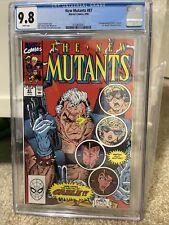 New Mutants #87 CGC 9.8 1990 3733620017 1st full app. Cable