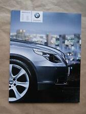 BMW 523i 525i xi 530i xi 540i 550i 520d-530xd,535d e60 9/2006 catalogue catalogue