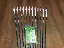 Easton Full Metal Jacket 340 Arrows  With Blazer Vanes Custom Made Set of 12