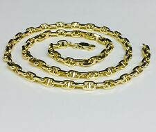 14k Yellow gold Anchor Mariner chain necklace 5 MM 16 grams  24