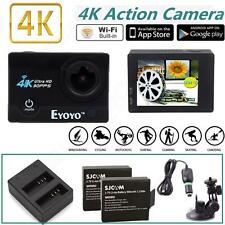 SJ9000 4K HD WiFi Sports Action Camera DVR+Dual Charger+Car Charger Battery Kit