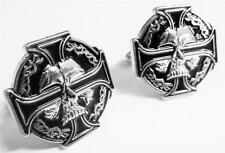 CELTIC IRON CROSS SKULL German Biker Harley Sniper WW2 WW1 Cufflinks Cuff Links