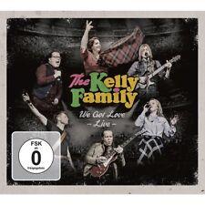 THE KELLY FAMILY - WE GOT LOVE-LIVE (2CD+2DVD)  3 CD+DVD NEU