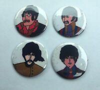 Lot Of 4 The Beatles Vintage Pins (John, Paul, George & Ringo) Beatles Pinback