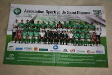 POSTER )) ASSE ST ETIENNE )) saison 2008/2009 / 75 Ans 1933-2008