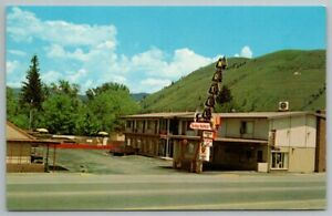 MISSOULA MT Montana Trade Winds Motel Vintage Postcard CR