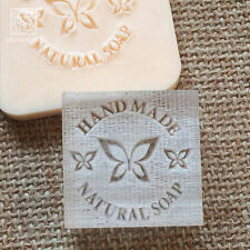 Handmade Natural Soap Seal Stamp Mold Chapter Acrylic Glass Customized DIY
