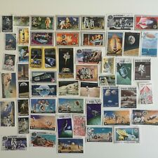 50 Different Apollo Missions on Stamps Collection - Space