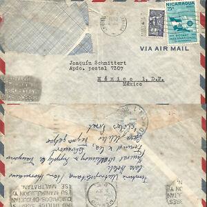 J) 1956 NICARAGUA, ROTARY INTERNATIONAL 50 ANNIVERSARY, WITH SLOGAN CANCELLATION