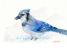 """ Blue Jay "" 5x7 Limited Edition Print Wildlife Animal Bird Art by Patricia"