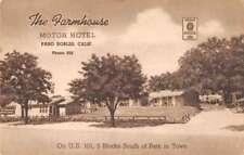 Paso Robles California The Farmhouse Motor Hotel Antique Postcard J74656