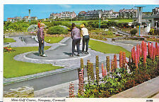 Cornwall Postcard - Mini - Golf Course - Newquay     7429