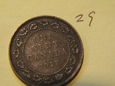 1917 Canada, Canadian Large Cent Coin , Canadian One Cent