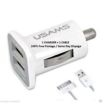 Usams chargeur voiture 3.1 amp + origine apple 3G iPhone 4 4S 3GS IPOD & iPad 2 & 1 *