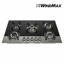 "Us Shipping 35.5"" Coated Glass 5 Burners Built-In Stove Natural Gas Cooktop"