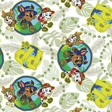 Jungle Paw Patrol Pups Children premium 100% Cotton Fabric by the Yard