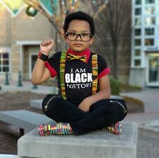 African Yellow Kente Suspenders By SweetLooks Collection