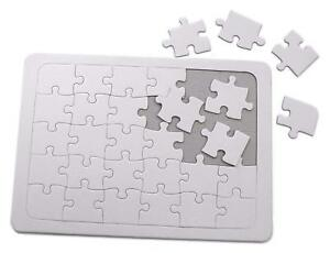 Major Brushes Blank White Jigsaw to Draw, Paint & Colour Own Design (30 Piece)