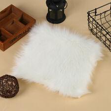 Square Faux Wool Carpet Kitchen Rug Cushion Mat Door Mat Plush Home  JO