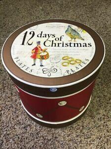 NICE! Williams-Sonoma 12 Days of Christmas Salad/Dessert Plates in Box 2007 New!