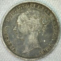 1885 Great Britain Silver 3 Pence Coin Threepence Silver UK Coin VF Very Fine