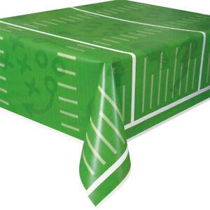 """Football Field Plastic Tablecloth, 108"""" x 54"""""""