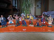 LOT set  8 pcs Toy tin INDIAN    65 mm  metal